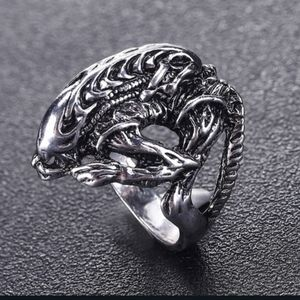 NWT Goth Stainless Steel 10 Alien Ring!